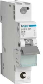 Hager Leitungsschutzschalter 1p   MBS116