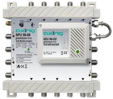 AXING Multischalter 5in8 aktiv SPU 58-09