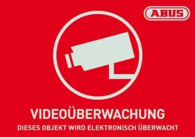 ABUS Warnaufkleber Video -D-      AU1420