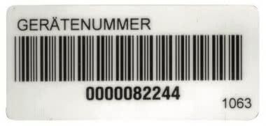 Beha FTC00001063D Barcode-Aufkleber 250