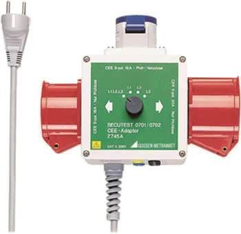 Gossen CEE-Adapter f.SECUTEST 0701 Z745A