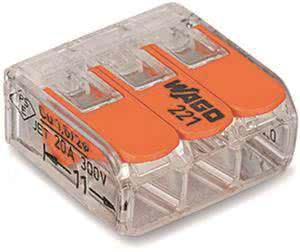 WAGO 3-Leiter COMPACT   3x4      221-413