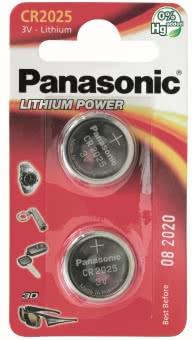 Panasonic Lithium Power     CR2025EP/2BP