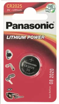 Panasonic Lithium Power      CR2025EL/1B