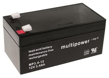 Multipower      MBL12/3,4AH/VDS MP3,4-12