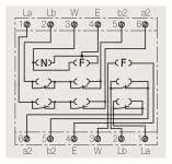 RB FM Anschlussdose  TAE  2x6/6 NFF AP
