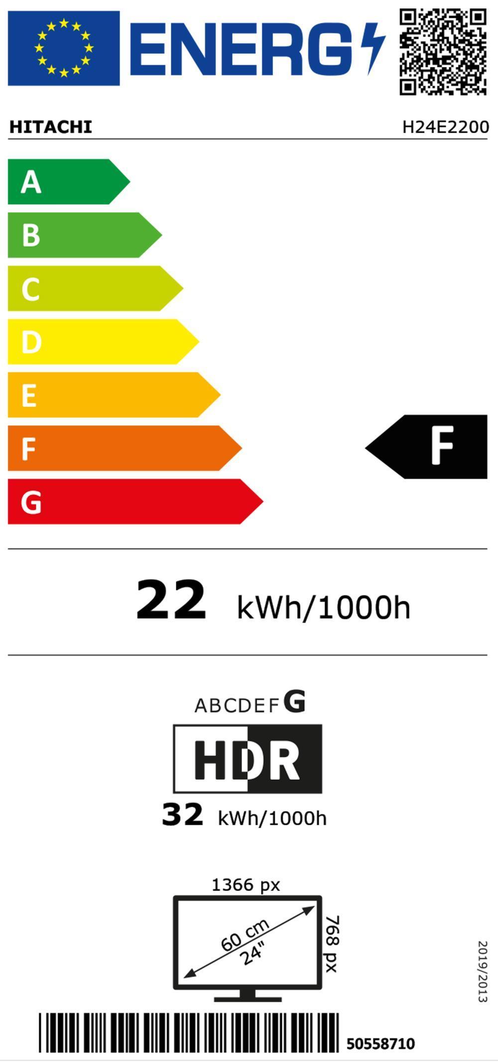 Hitachi H24E2200 sw LED-TV