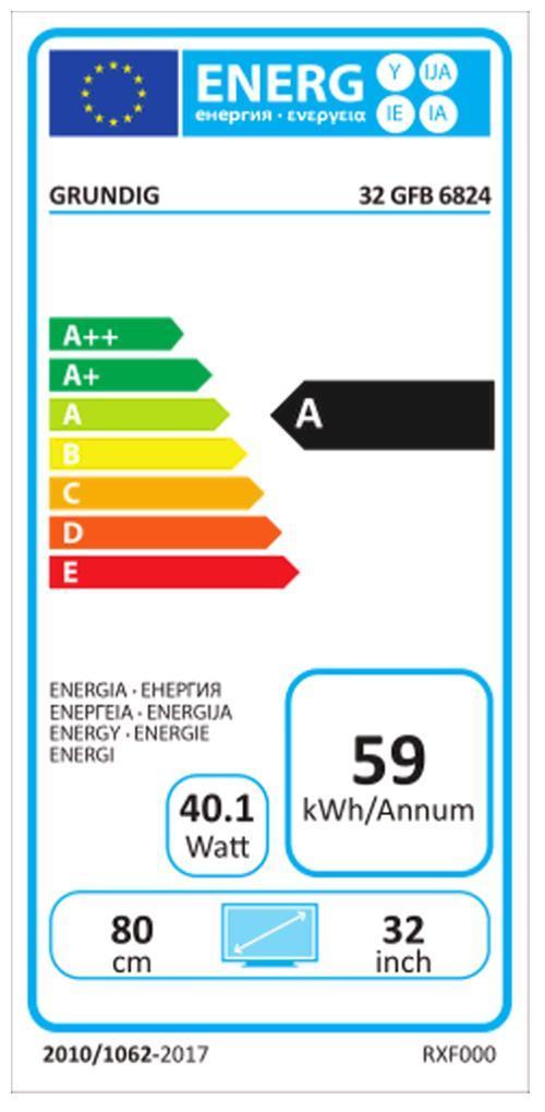 Grundig 32GFB6824 sw LED-TV WFexkl