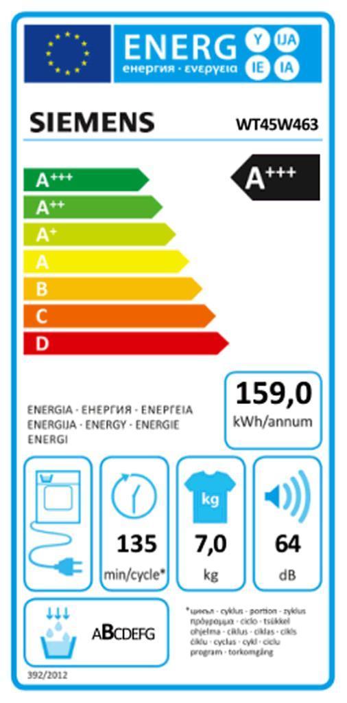 SIEMENS WT 45 W 463 Wärmepumpentrockner