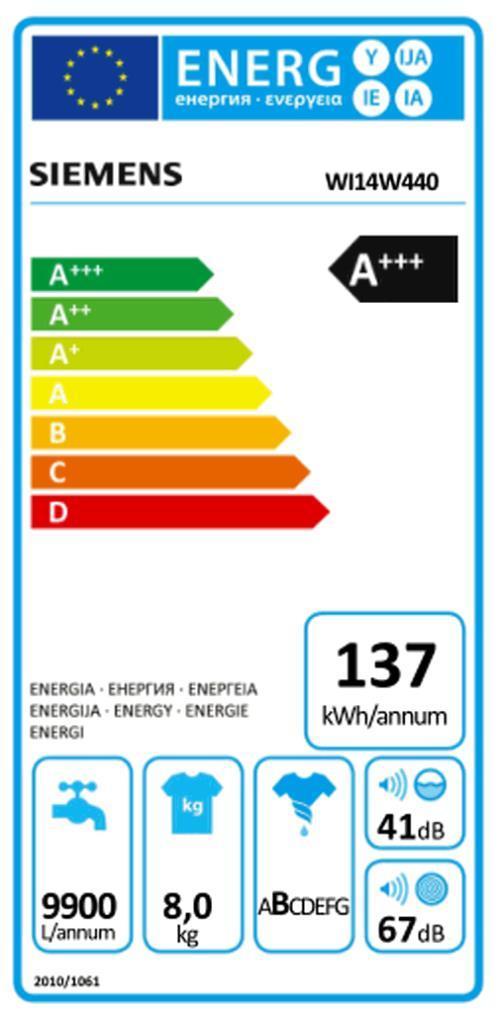 SIEMENS WI 14 W 440 EB-Waschautomat