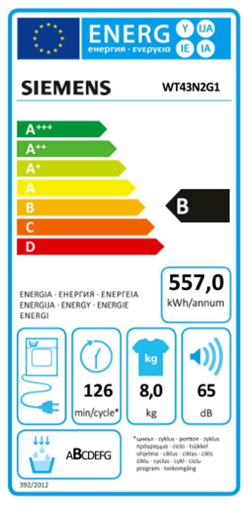 SIEMENS WT 43 N 2 G 1 Kondenstrockner