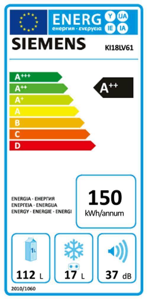 SIEMENS KI 18 LV 61 EB-Kühlschrank